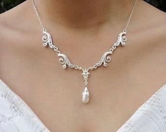 Wedding necklace bridal jewelry, Wedding necklace, Bridal necklace, Wedding necklace pearl, Wedding pearl necklace, Pearl necklace wedding