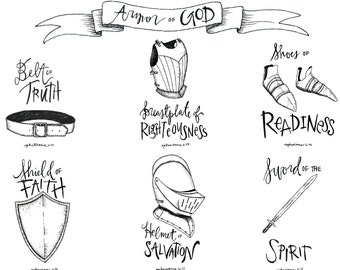 "Armor of God illustration 8.5x11"" download"