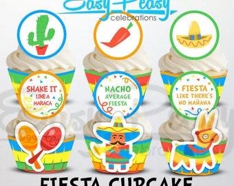 Fiesta Cinco De Mayo Cupcake Set #1 - Bright Colors