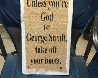 Boots Wood Sign
