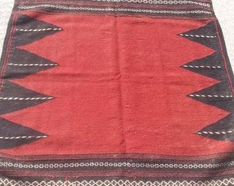 Size:4 ft by 3.10 ft Handmade Kilim Vintage Afghan Tribal Sofreh Kilim