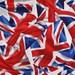 CUSTOM MEN'S BOXERS, British Flag, Union Jack, England, Great Britain, United Kingdom, Choose Size