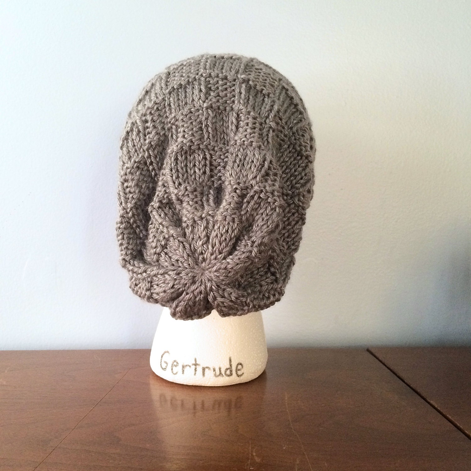 How To Loom Knit Slouchy Beanie Basketweave : Pattern knit basket weave beanie slouchy by thewoollykraken