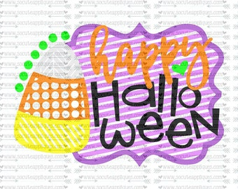 SVG, DXF, EPS cutting file, Candy corn svg, Happy Halloween frame svg, socuteappliques, silhouette file, cameo file, scrapbooking file