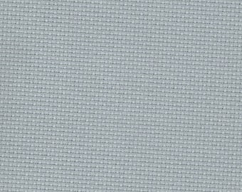 Pewter Grey 14 count Aida Cross Stitch Fabric woven by Zweigart 50 x 55cm