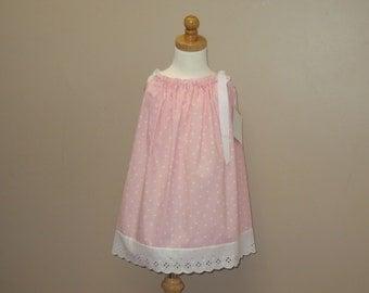 Girls Pillowcase Dress, Girls Sundress, Pink Dress, Matching Doll Dress