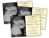 Photo 50th Anniversary Party Invitations - Printable 50th Wedding Anniversary Invitation - 50th Anniversary Ideas - Vow Renewal Idea - Ivory