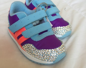 SUMMER SALE! 50% off! One size left-Infant 6. Adidas covered in Swarovski Crystals.