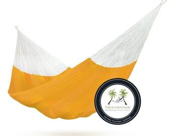 Orange Hammock - 100% Hand Woven - Pelican Hammocks