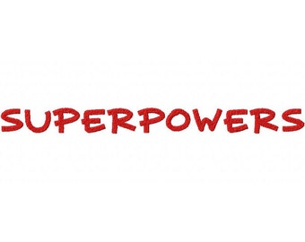 Super Powers Embroidery Font Set