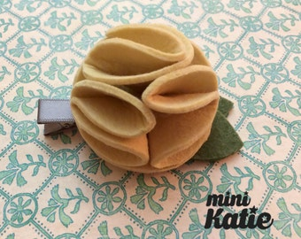 mini Katie Modern Flower Hair Barrette Hair clips flower hair Accessory for Baby Toddler and girls