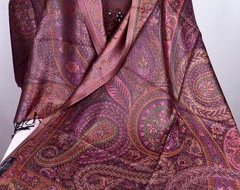 Green plum PASHMINA shawl stole scarf shawl stole scarf silk ps190
