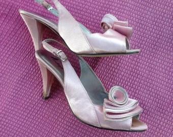 Indigo Pink and Silver Heels