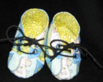 Baby Boy Dinosaur Print Sneaker Style Booties