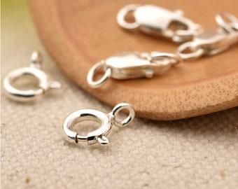 925 Silver Lobster/Ring Clasp Bracelet/Necklace Handmade for bracelet/necklace-WEN36335942138-GVN