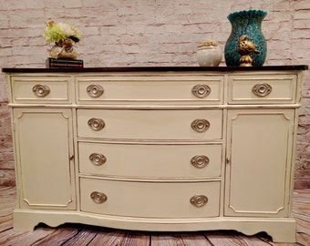 Buffet, Sideboard, Credenza or Dresser - Painted - Chalk Paint - Distressed - Top Refinished