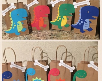 Personalized Dinosaur Treat/party bags Set of 10