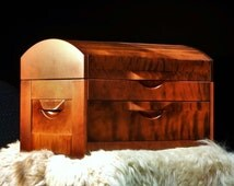 EXCLUSIVE CHEST! DRESSER Made from 100% natural most rare Siberian fire (gnarled) birch!
