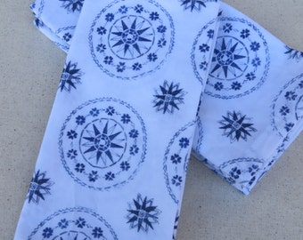 Blue Watercolor Compass Print Napkin