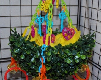 Sugar Glider Toy- Hanging Topiary Swing with 8 Reset Bracelets and a Blankie