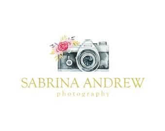 camera logo elegant logo floral logo custom logo design premade logo watermark photography logo business logo gold foil logo