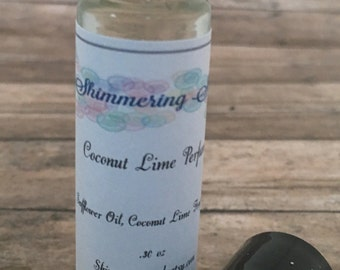 Coconut Lime Perfume, Coconut Perfume, Lime Perfume, Tropical Perfume, Vegan Perfume, Travel Perfume, 10ml Glass Bottle