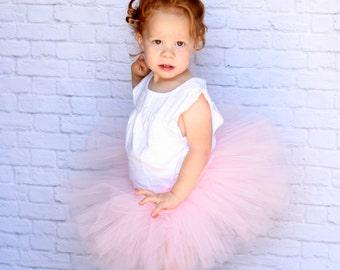 Blush tutu - Light pink tutu - Pink flower girl tutu - Blush pink tutu - Pink tutu skirt- Baby tutu, Toddler tutu, Girls tutu- Birthday tutu