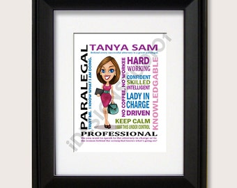 Personalized Paralegal Gift, Boss Day, Boss Gift, Business Woman Gift, Graduation Gift