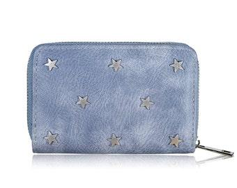 Stars wallet blue