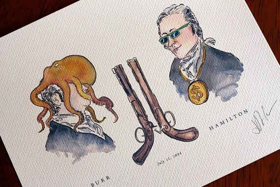 aaron burr alexander hamilton duel on broadway