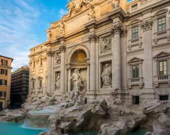 Large print of Rome, Fontana di Trevi, picture of the Trevi Fountain in Rome, Sunrise in Rome, Italian art, Roma, oversize print of Rome