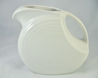FIESTA PITCHER: LARGE Disc, White***Outlet Price***