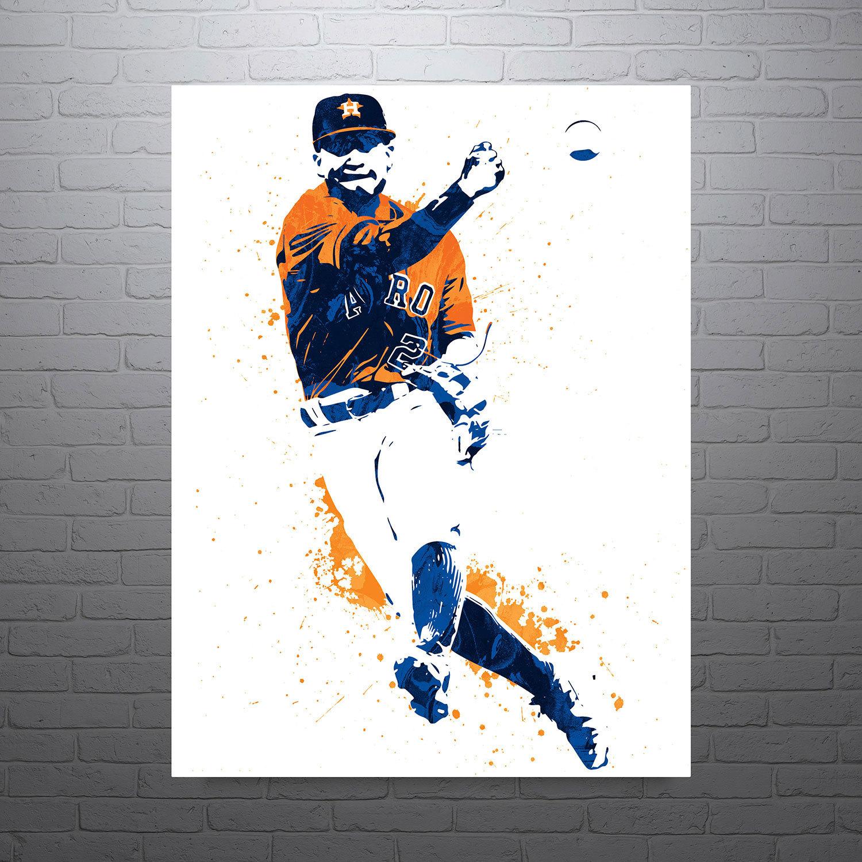 Jose Altuve Houston Astros Sports Art Print Baseball Poster