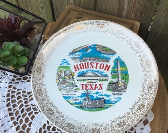 Houston Texas Vintage Collectors Plate