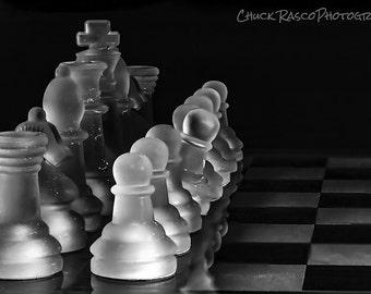 Photo Art - Black & White Photography - Chess Pieces