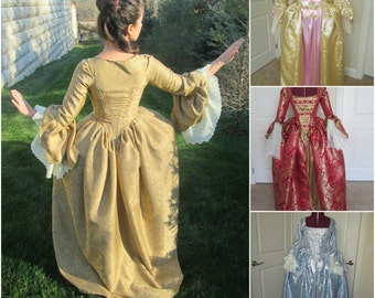Marie Antoinette Gown; Rococo Gown; Elizabeth Swann Gown; Baroque Dress; Colonial Gown; 18th Century Gown with Bows; Duchess of Devonshire