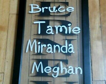 Family Names Frame