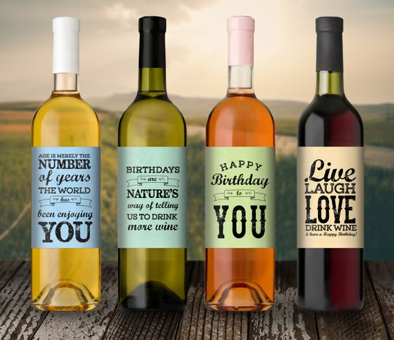 Birthday Gift Birthday Wine Label Custom Wine Label 21st