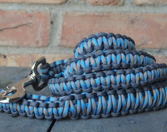 Grey and Surf & Sand Paracord 6ft Dog Leash