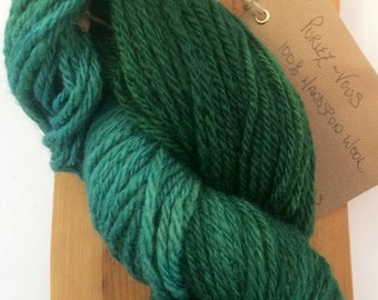 Hand Dyed Hand spun Teal and Emerald 2