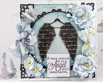 Shabby Chic Wings Friendship Card
