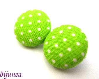 Green Polka dot earrings - Polka dot stud earrings - Polka dot posts - Polka dot studs - Dot post earrings sf163