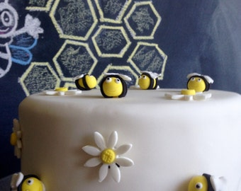 Edible bees and flowers