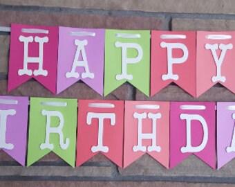 Happy Birthday Banner, Birthday Banner, Happy 1st Birthday Banner, Happy 2nd Birthday, Birthday Decorations