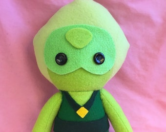Peridot Steven Universe Crystal Gem Fleece Plush Doll