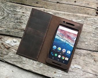 Leather google Nexus 6P Wallet Case   Leather google Nexus 6p case, google Nexus 6 leather case   google Nexus 6p wallet leather