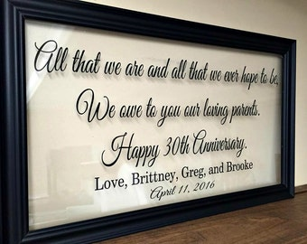 Anniversary Gift for Parents, 50th Anniversary Gifts, 50th Wedding Anniversary Gifts, 50th Anniversary Gifts for Parents, 10X20 A219