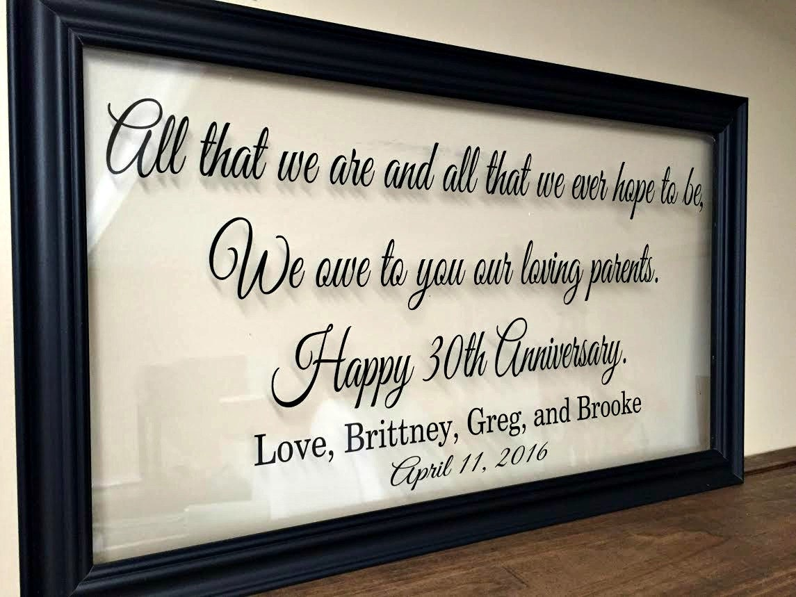 50th Anniversary Wedding Gift Ideas: Anniversary Gift For Parents 50th Anniversary Gifts 50th