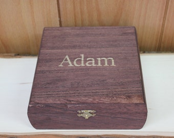 Engraved Groomsmen cigar Gift Box- bridal party gift- valentines gift