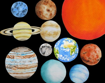 Planet clipart – Etsy